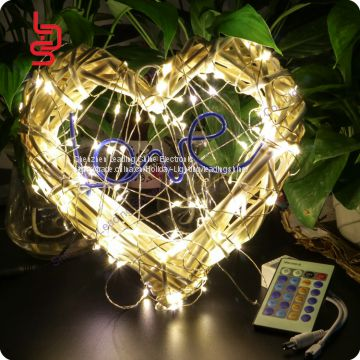 waterproof led soft copper wire christmas tree decoration light light set firefly rice smd light string