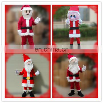 High quality christmas realistic santa claus costume for party