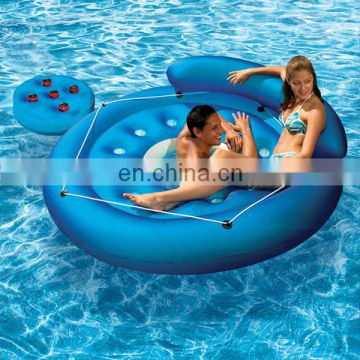 inflatable Island Float lounge relaxing pool water toy