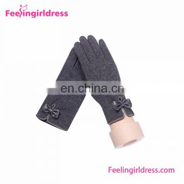 Customized Touch Screen Gloves Elegant Ladies Winter Gloves