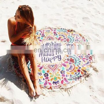 New Totem Round Beach Towels Table Cloth