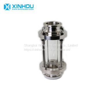 Industrial 360 Sanitary Tubular Sight Glass with Glass Tube