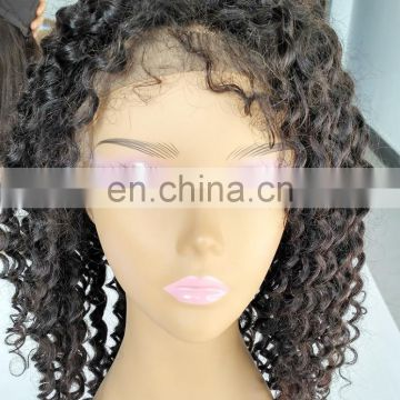 Best Selling Wholesale Factory Price Tangle Free No Shedding Indian Remi Full Lace Wig With Baby Hair
