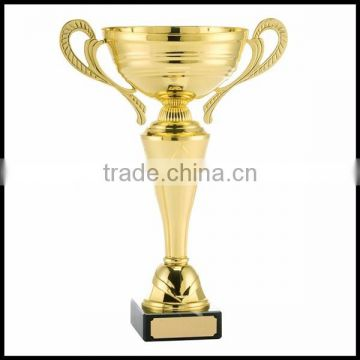 Custom gold achievement trophy gold metal trophy novel trophy cup for sports competition