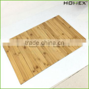 Natural Bamboo Floor Mat with Back Cloth Homex-BSCI Factory