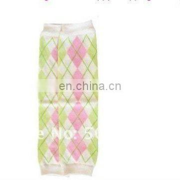 Green And Pink Argyle Leg Warmers Adorable Checkered Baby Leg Warmer
