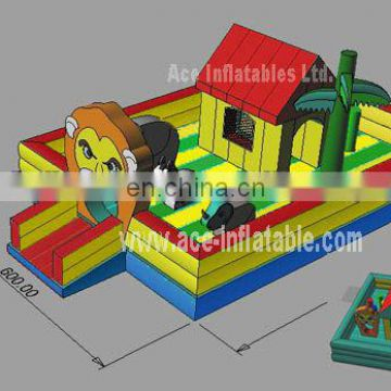 Outdoor Inflatable Fun City games