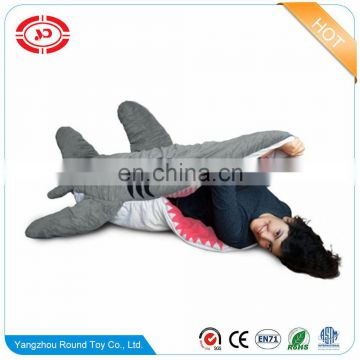 Shark stuffed soft funny kids&adult gift animal shape plush sleeping bag