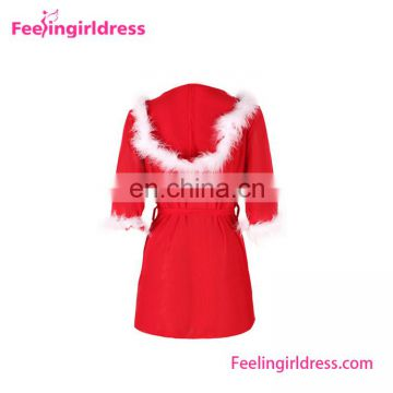 Christmas Items Wholesale Long Sleeve V Neck Christmas Nightgown