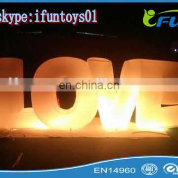 big inflatable led letters for wedding /wedding love letter inflatable lightings / inflatable wedding love letters