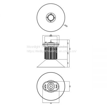 LED High Bay Housing MLT-HBH-BXL-I