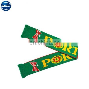 Promotional custom knitted acrylic scarf