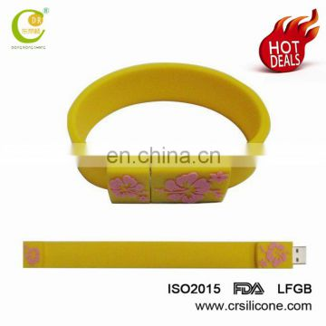 High Quality Wholesale Silicone Bracelet Usb Flash Drive 2/8/32/64gb,Promotional Wristband Pendrive