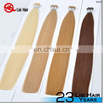 HOT!!! Top Quality Factory Wholesale Price Alibaba Gold Supplier russian hair double drawn pre bonded