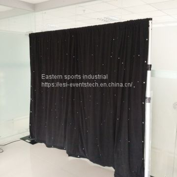 ESI Wholesale Used Adjustable Stands Poles System Circle Events Pipe And Drape Wedding Backdrop For Sale