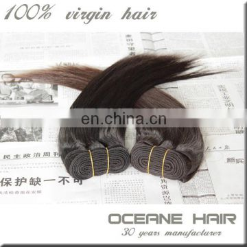 Fashional factory supply alibaba express 100% full cuticle no acid human hair peruvian