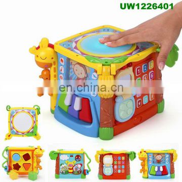 Baby Blocks Shape Sorter Toy - Children Blocks - Color Recognition Shape Toys With Colorful Sorter Cube Box - My First Baby Toy