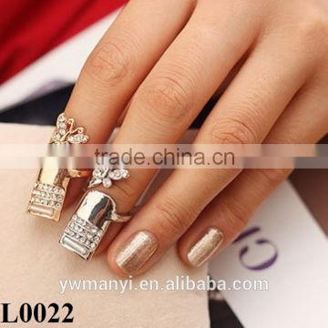 3D glitter nail ring rhinestone decoration shinning ring design nail art jewelry decorations for manicure nail tool L0022                                                                         Quality Choice