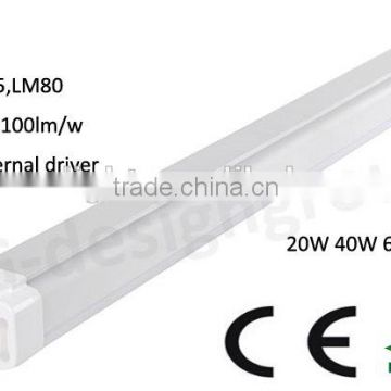 2016 Hot selling High Quality Tri Proof LED Linear Bay Light ,60W IP65 LED Low Bay Light