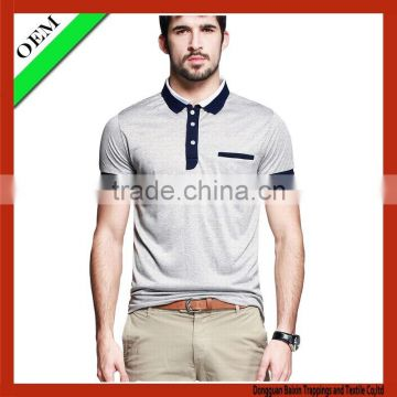 hot sale contrast color high quality polo T-Shirt With Short Sleeve