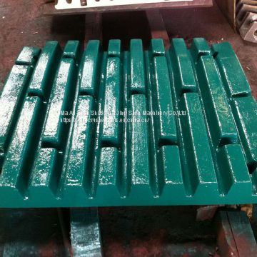 Metso C110 jaw crusher spare parts fixed jaw,swing jaw plate