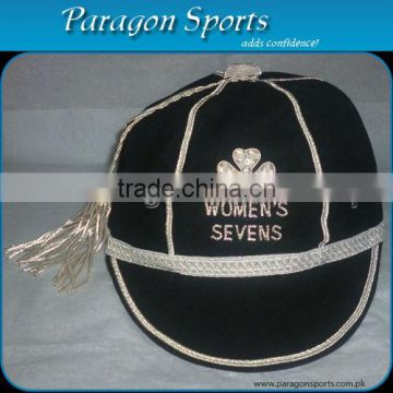Hand Embroidered Honours Cap with Silver Braid & Tassel