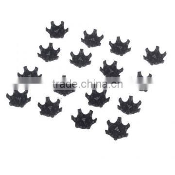16Pcs Black Easy Replacement Spikes Ultra Thin Cleats for Golf Shoes