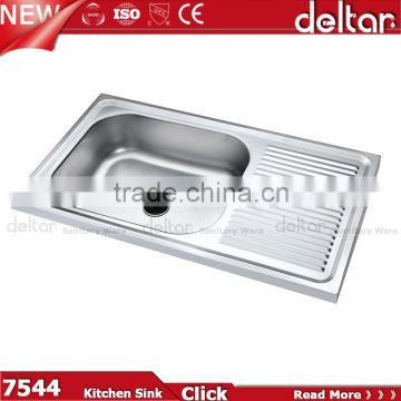 Pleasant Double Bowl Kitchen Sink With Drainboard One Piece Kitchen Download Free Architecture Designs Salvmadebymaigaardcom