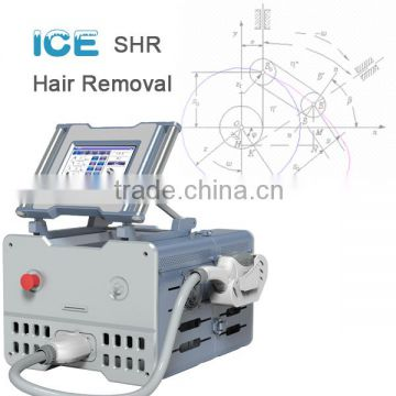 ICE1- New technology fast painless hair removal SHR IPL laser aesthetic equipment portable