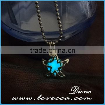 Hot selling luminous jewellery glow star necklace pendant