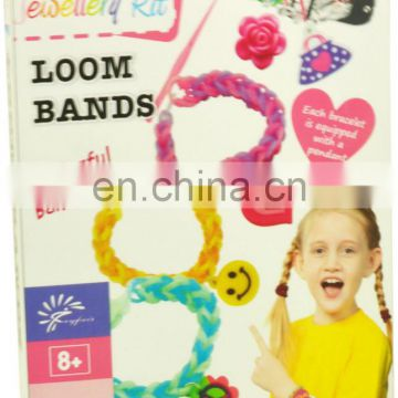 DIY fashion rainbow loom bands kits for kids bracelets