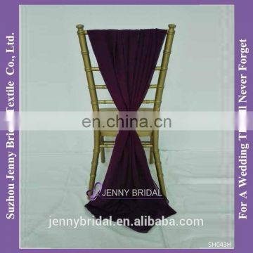 SH043H wholesale chiffon purple chair covers