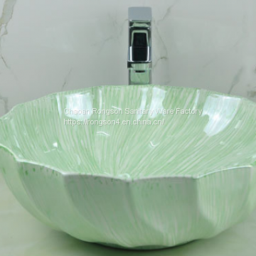 Wonderful Art Green  Basin Factory in Bathroom Sinks