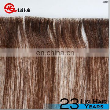 Hand Tied Seamless Skin Weft European Tape Hair double sided tape for hair extensions