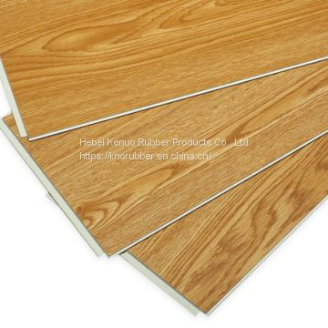 Teak Wood Planks WPC Vinyl Flooring for Light Commercial