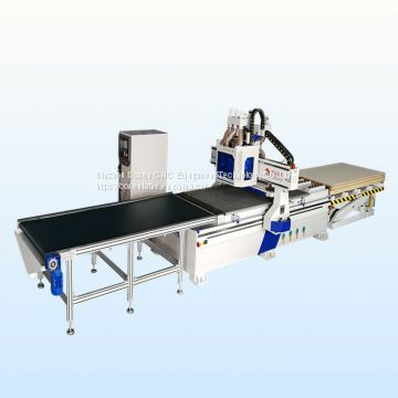 multifunctional cnc router with boring drill groups for wood door and window
