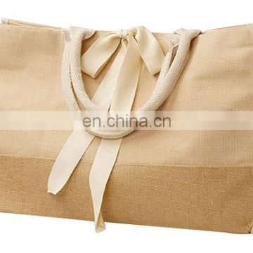 Best Reusable Jute Burlap Shopping Bag and All-Purpose jute Tote bag with Rope Handles for Groceries and Gym Clothes