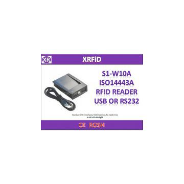 S1 W10A ISO14443A RFID READER USB OR RS232 INTERFACE WITH FREE SDK
