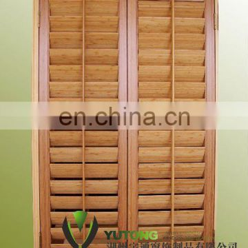 Bamboo louver windows shutters