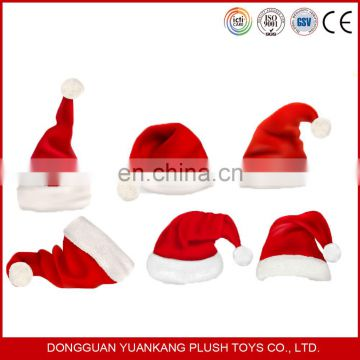 2016 Xmas Holiday red santa claus christmas plush hat