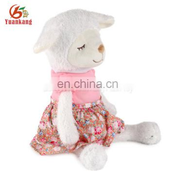 SA8000 audti factory plush animal stuffed soft sheep toy with dress