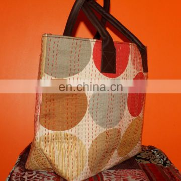 India Suppliers Handmade Genuine 100% Cotton Bags Ladies Shoulder Bags