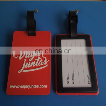 Promotional Company Website Travel Label Soft PVC Luggage Baggage Tag