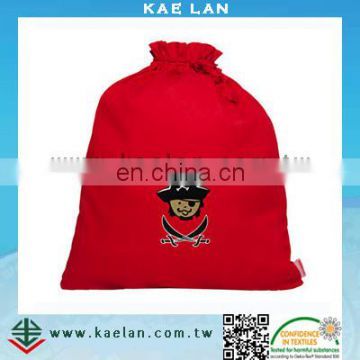 Embroidery digitizing eco-friendly high quality drawstring bag