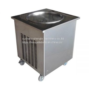 Single Pan Fried Ice Cream Roll Machine Flat Pan Fried Ice Cream Machine Ice Pan Machine