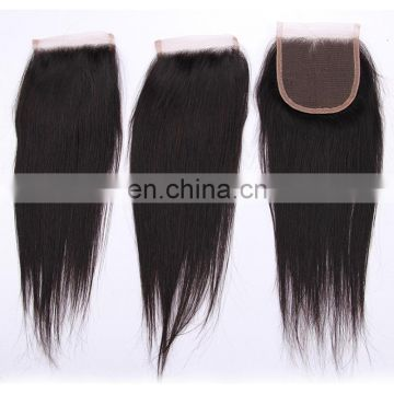 Cheap silk base swiss lace closure 8A Remy Peruvian human hair free part closure factory wholesale