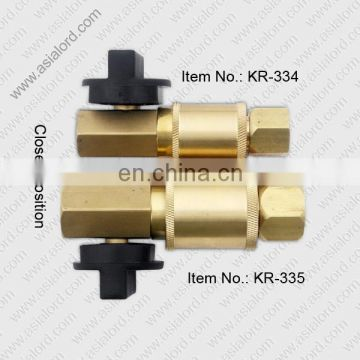 Quick coupling with protection fuse