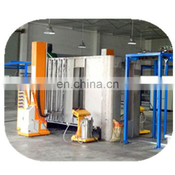 Automatic powder coating booth for aluminium profiles 44