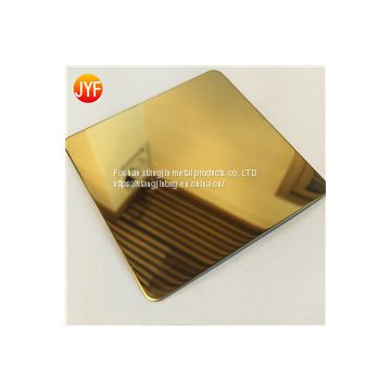 JYFM007 Factory wholesale 304 gold mirror finished color decorative stainless steel