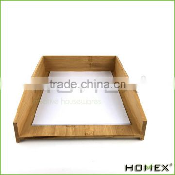 Office bamboo paper storage tray/ file tray Homex-BSCI